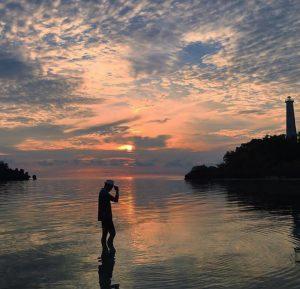 Mercusuar di Pulau Labengki Kecil